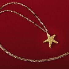 """18k Yellow Gold 18"""" Starfish Charm Chain. 5.6 grams."""