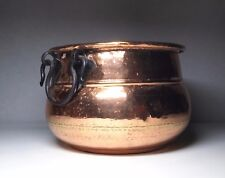 Vintage Hammered Copper Kettle/Pot/Handle/Cauldron With Lacquered Finish
