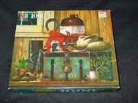 Milton Bradley 1995 - Charles Wysocki's  COWBOY BOOTS #4679-22 - 1000pc Puzzle