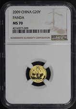2009 China Gold Panda 20 Yuan 1/20 oz NGC MS-70 -146443