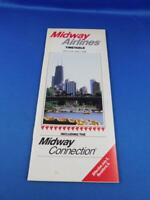 JUNE 1988 MIDWAY AIRLINES TIMETABLE SCHEDULE ROCKFORD ILLINOIS TRAVEL ADVERTISE