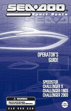 Sea-Doo Owners Manual Book 2003 CHALLENGER 2000 & CHALLENGER X