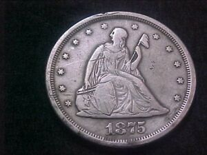 1875 s twenty cent piece nice coin