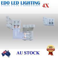4pcs L shape 5050 single color led strip light connector 10mm Joiner Joint clips