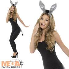 Adult Donkey Kit Ladies Fancy Dress Ears Tail Animal Womens Costume Accessory