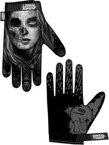 Lethal Threat Women's Half Skull Gloves