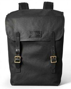 Filson Ranger Backpack 11070381 Black Brass Leather RARE USA Oiled Waxed