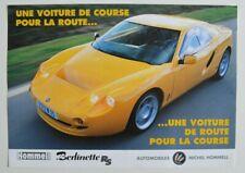 HOMMELL Berlinette RS & Barquette 1998 dealer brochure - French