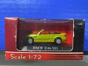 1/72 YAT MING BMW E46 M3 CONVERTIBLE GREEN