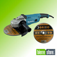 SMERIGLIATRICE ANGOLARE MAKITA FLEX 230 MM GA49020 DISCO INCLUSO