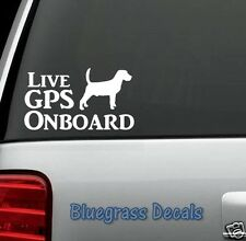 A1111 LIVE GPS DOG Decal Sticker COON HOUND BEAGLE