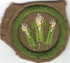 BOY SCOUT CORN FARMING SAND FINE TWILL MERIT BADGE (TYPE D) 1942-1946
