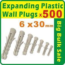 500 x Expanding Plastic Wall Plugs 6mm x 30mm Bulk Sale