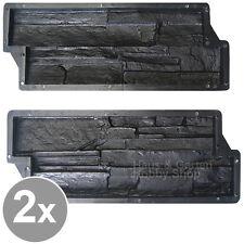 2x Schalungsform Gießformen für Beton Gips Putz Wandverkleidung Schieferstruktur