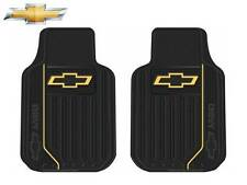 2 Pc Chevrolet Chevy Elite Front Rubber Floor Mats Heavy Duty Fast Shipping