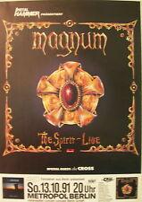 MAGNUM CONCERT TOUR POSTER 1991 THE SPIRIT THE CROSS
