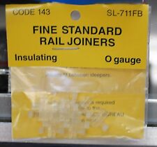 O Scale PECO SL-711FB Code 143 Insulated RAIL JOINERS for O Gauge 12 per package