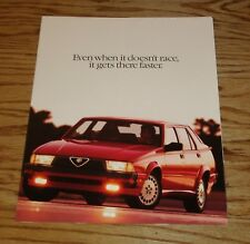 Original 1988 Alfa Romeo Milano Sales Brochure Folder 88