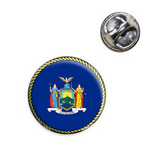 New York State Flag Lapel Hat Tie Pin Tack