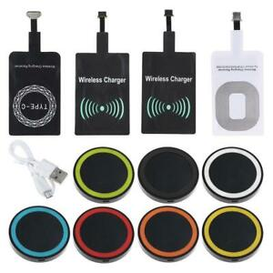 Qi Wireless Charger Dock Pad & Charging Receiver For iPhone & Android & Ty hot.