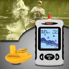 Portable Wireless Fish Finder Alarm Probe Detector Sonar Sounder 150M Depth