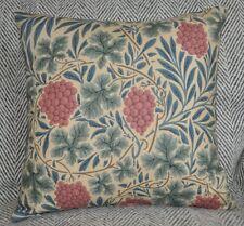 "NEW 16"" reversible zipped cotton cushion Morris & Co 'Vine' russet/heather"