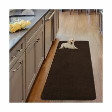 Ottomanson Luxury Collection Solid Runner Rug with Non-Slip/Rubber-Backing Ba...