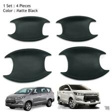 Door Handle Bowl Insert Cover Matte Black Trim Fits Toyota Innova Crysta 2017