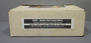 Pecos River Brass S1032 O Scale Double Stall Engine House Building Kit/Box