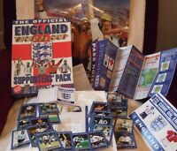 THE OFFICIAL ENGLAND WORLD CUP SUPPORTER`S PACK - 1998 - NEW - VINTAGE STOCK