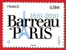 """Timbre autocollant """"Barreau de Paris"""" n° 508, bord de feuille"""