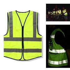 Hi-Vis Safety Vest Reflective Jacket Security Waistcoat Warp Knitting Cloth TL