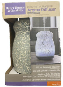 NEW BETTER HOMES & GARDENS ESSENTIAL OIL AROMA COOL MIST DIFFUSER MOSAIC LED