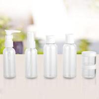 6 pièces 20/50/80ml portatif TRANSPARENT voyage produits de beauté bouteille
