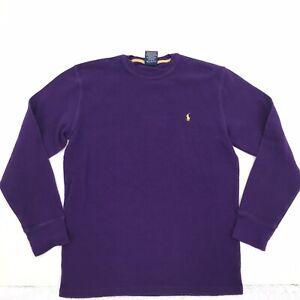 Polo Ralph Lauren Mens Purple Sleep Shirt Crewneck Long Sleeve Sz L