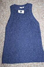 NWT GAP marl tank sweater indigo neutral XS