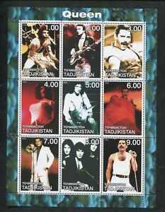 Tajikistan Commémorative Souvenir Tampon Feuille - Reine - Freddie Mercury
