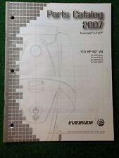 2007 BRP Evinrude E-TEC Outboard Parts Catalog Manual 115 HP 60 V4 DEALER