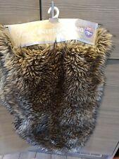 Faux Sheepskin Rugs Fluffy Plush Natural Texture Brown  Rug Mat Size 60 x 90cm