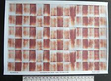 O gauge (1:48 scale) corrugated iron sheet (rusty) -  paper - A4 sheet