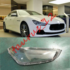Right Side Headlight Cover Clear PC+Glue Replace For Maserati Ghibli 2014-2019