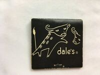 Vintage Matchbook Dale's Cellar Peachtree St Atlanta Black White Graphics