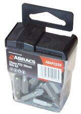 Abracs PZ2 25mm Screwdriver Bits - Tic Tac Dispenser Case of 25 Bits