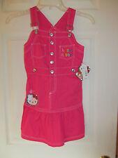 NWT Baby Girls Hello Kitty Pink, White Ruffled bottom Jumper dress sz 6X