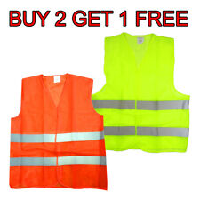 Neon Security Safety Vest W High Visibility Reflective Stripes Buy 2 Get 1 Free*