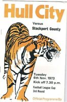 Hull City v Stockport County 1973/4