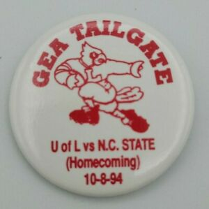 Vintage 1994 University Of Louisville Homecoming Button/Pin/Football/Sports