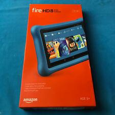 New Amazon Kindle Fire HD 8 Kids Edition 32GB Wi-Fi Tablet - Black w/ Blue Shell