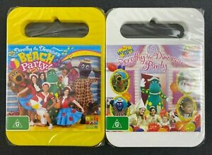 2x Dorothy The Dinosaur DVDs - Dorothy's Party + Beach Party! NEW/SEALED Wiggles