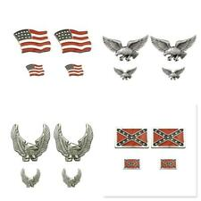 New Biker Jacket 4pc PIN SET Motorcycle Brooch Flag , Flag 2 , Eagle ,Wings up